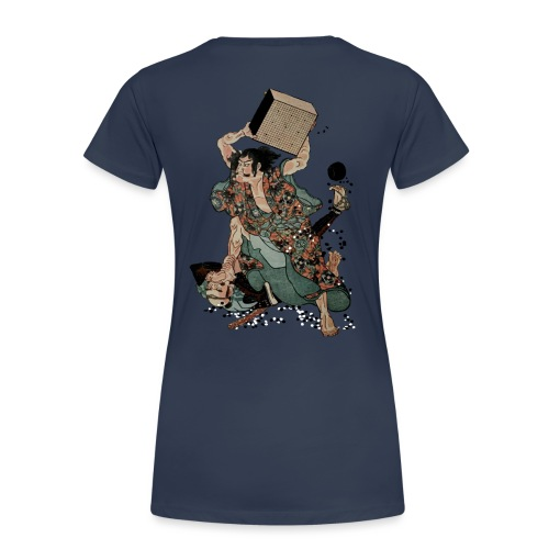 Sato Tadanobu with a goban - Vrouwen Premium T-shirt