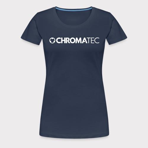 ChromaTec Logo White - Frauen Premium T-Shirt