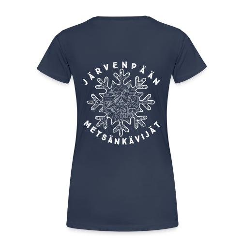 jame logo selk 1 final - Naisten premium t-paita