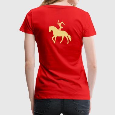 Handstand rückwärts auf Pferd - Frauen Premium T-Shirt