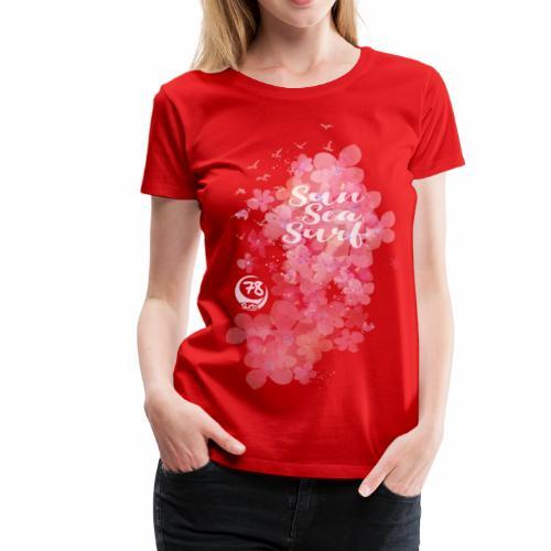watercolorflower - Frauen Premium T-Shirt
