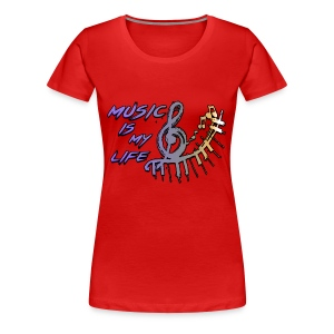 Music is my life - Dames Shirt - Vrouwen Premium T-shirt