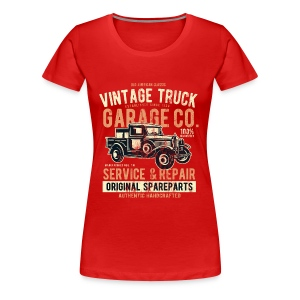 VINTAGE TRUCK- Vintage Pick Up Truck LKW Car Shirt - Frauen Premium T-Shirt