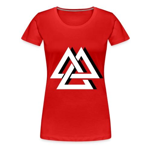 Un effet de trois Triangle - T-shirt Premium Femme