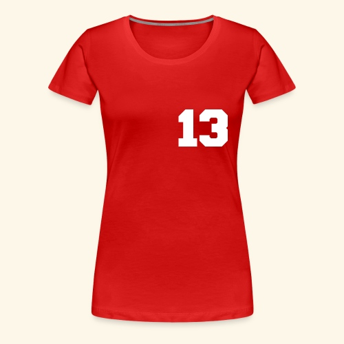 13 white - Frauen Premium T-Shirt