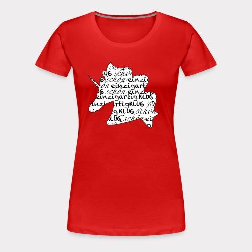 Einzigartiges schönes Einhorn - Frauen Premium T-Shirt