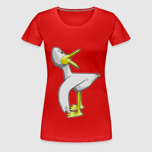 Janus Turning Duck - Frauen Premium T-Shirt