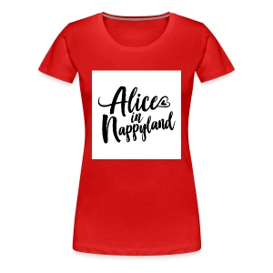 Alice in Nappyland Typography Black 1080 1 - Women's Premium T-Shirt