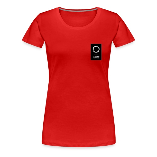 Dornenkrone Logo Black - Frauen Premium T-Shirt