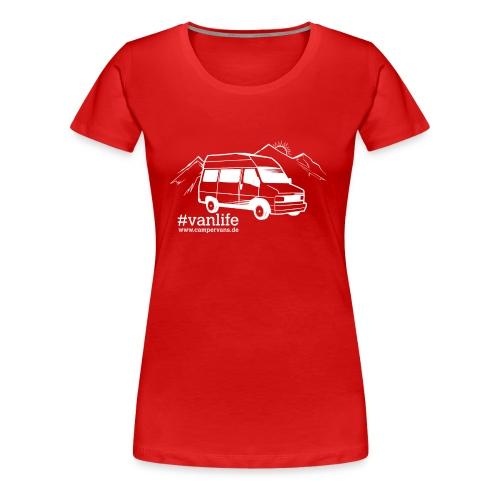 Campervans Van weiß - Frauen Premium T-Shirt