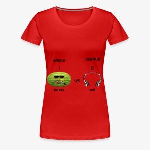 Melon vs Casque - T-shirt Premium Femme