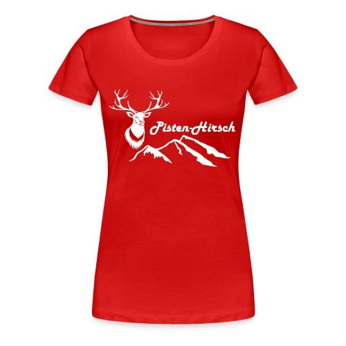 Pisten-Hirsch (Hirschkopf detailliert) - Frauen Premium T-Shirt
