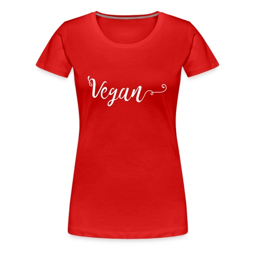 Vegan logo blanc - T-shirt Premium Femme