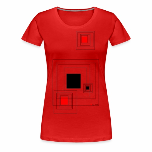 geometric design - Frauen Premium T-Shirt