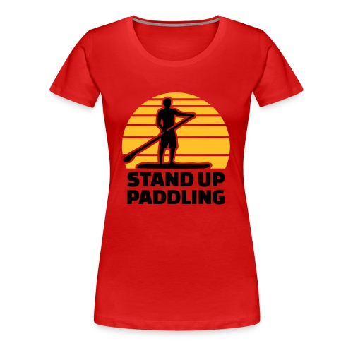 Stand up Paddle Sun - Frauen Premium T-Shirt