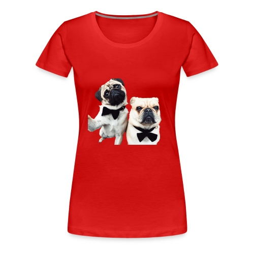 Mopsselfie - Frauen Premium T-Shirt