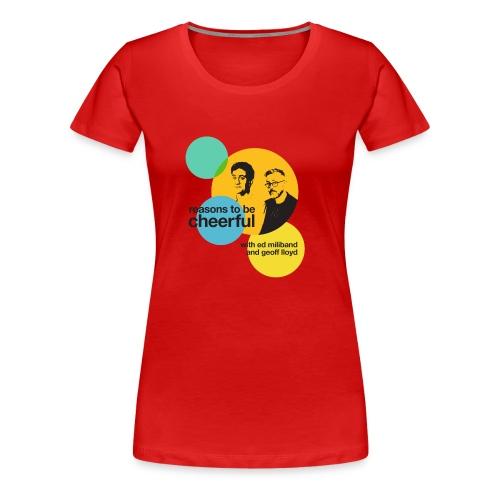 Reasons logo with Ed & Geoff (light background) - Women's Premium T-Shirt