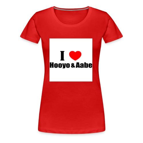hooyo aabe1 - Vrouwen Premium T-shirt