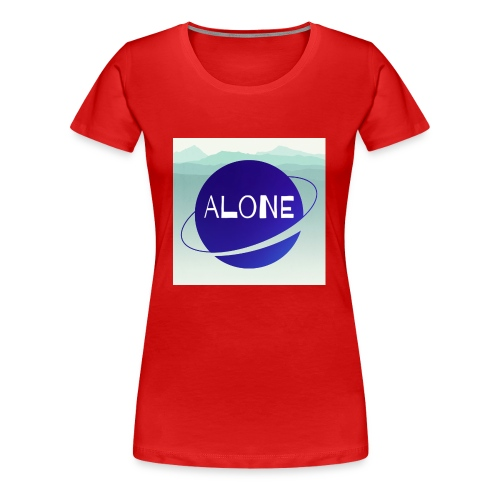 Alone planet with background - Women's Premium T-Shirt