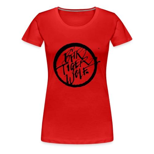 Bär Tiger Wolf black ink - Frauen Premium T-Shirt