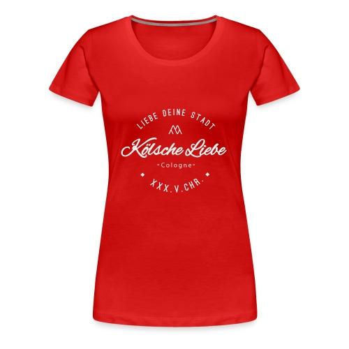 Koelsche Liebe White - Frauen Premium T-Shirt