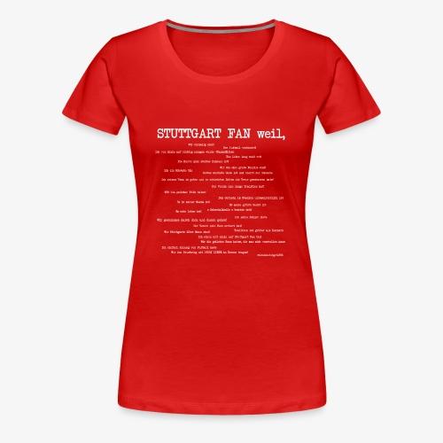 Stuttgart Community (weißer Aufdruck) - Frauen Premium T-Shirt