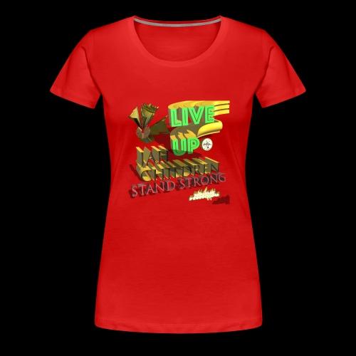 live up JAH children (Kansidah 3D) - Frauen Premium T-Shirt