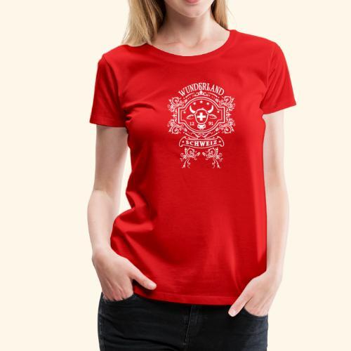 T-Shirts Schweiz Wunderland - Frauen Premium T-Shirt