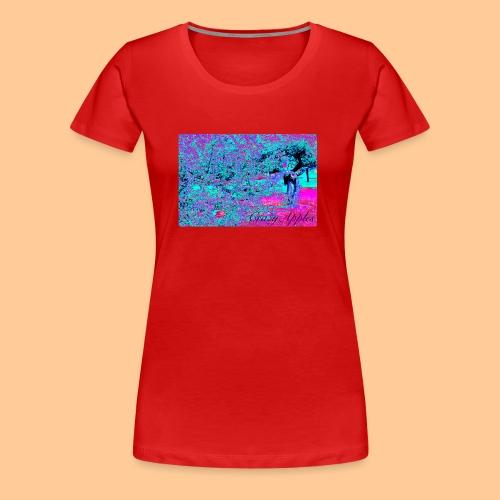 Crazy Apples /turquoise-pink - Premium T-skjorte for kvinner