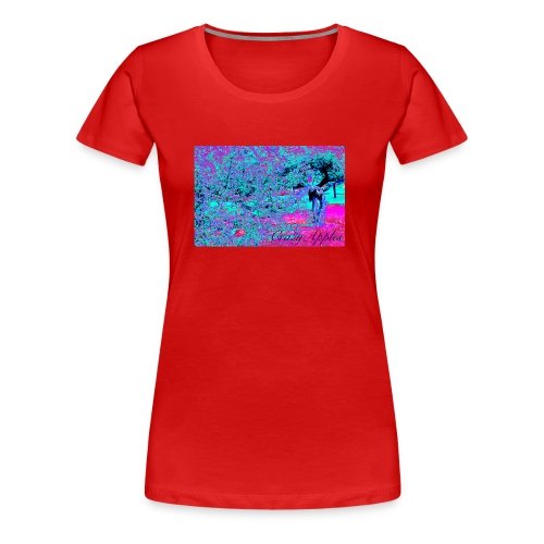 Crazy Apples /turquoise-pink - Premium T-skjorte for kvinner