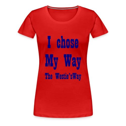I chose My Way Navy - Women's Premium T-Shirt