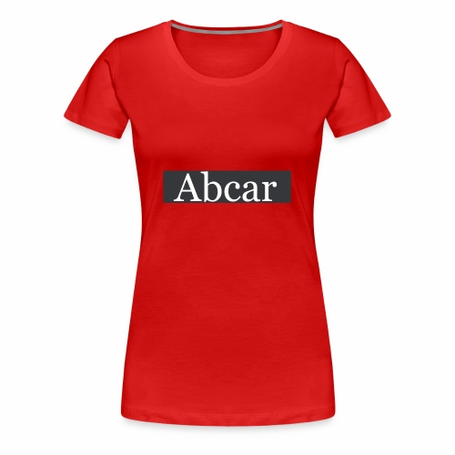 abcar zwarte box logo - Vrouwen Premium T-shirt