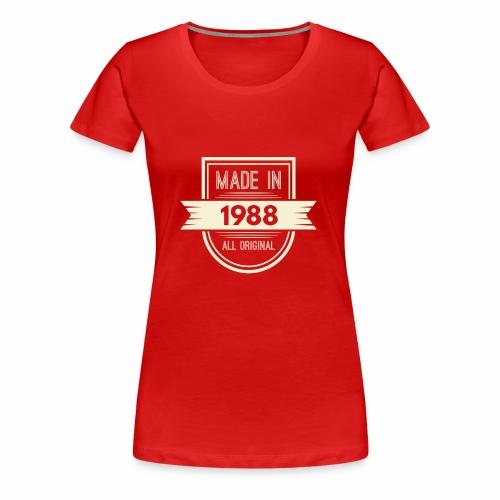 1988 cream - Vrouwen Premium T-shirt