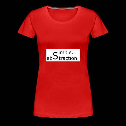 logo simple. abstraction. s/w - Frauen Premium T-Shirt
