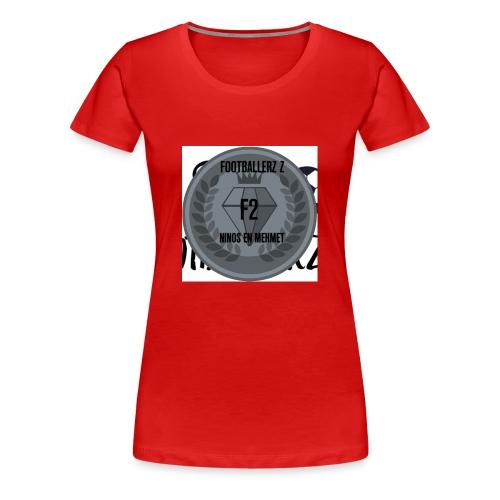 F2FOOTBALLERZ Z youtube kanaal T shirt - Vrouwen Premium T-shirt