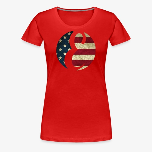 Everipedia - Logo USA dirty - Frauen Premium T-Shirt