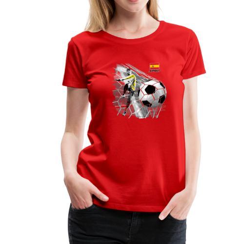 GP22F-02 SPAIN FOOTBALL PRODUCTS - Espanya fútbol - Naisten premium t-paita