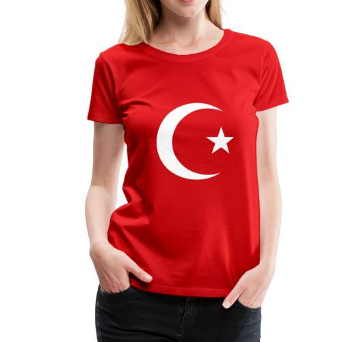 E 0013 Halmmond und Stern Türkei Flagge - Frauen Premium T-Shirt