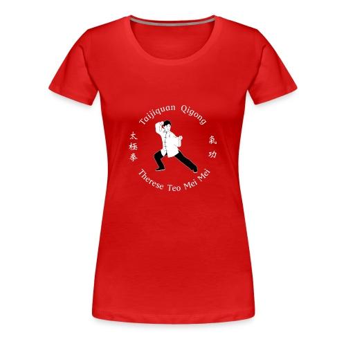 Teo Mei Mei White Logo - Premium-T-shirt dam