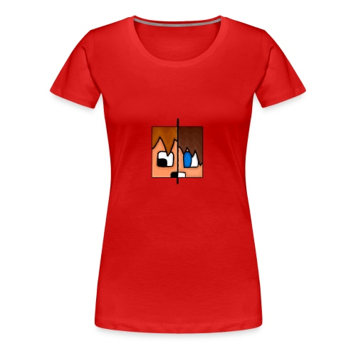 To Menn, Ett Hode (Mann) - Premium T-skjorte for kvinner