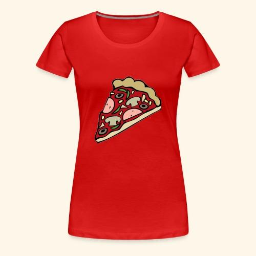 Pizza - T-shirt Premium Femme