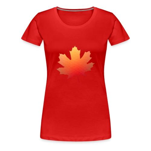 Herbst Blatt Polygon - Frauen Premium T-Shirt