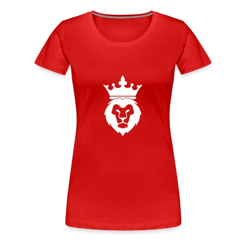 Lion_Logo_with_Crown_St--rre_bild_-white- - Premium-T-shirt dam