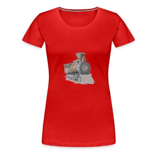 steam locomotive - Dame premium T-shirt