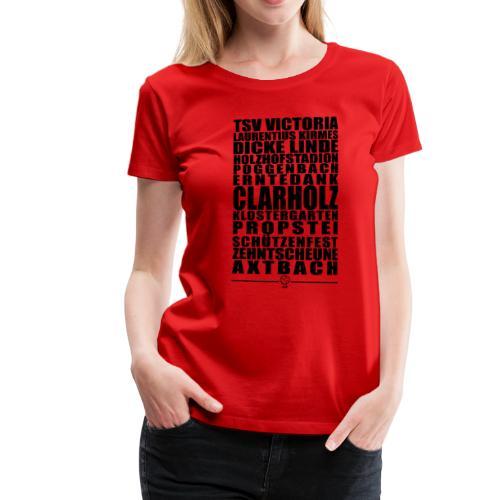 Clarholz Shirt - Das Shirt für alle Clarholzer - Frauen Premium T-Shirt