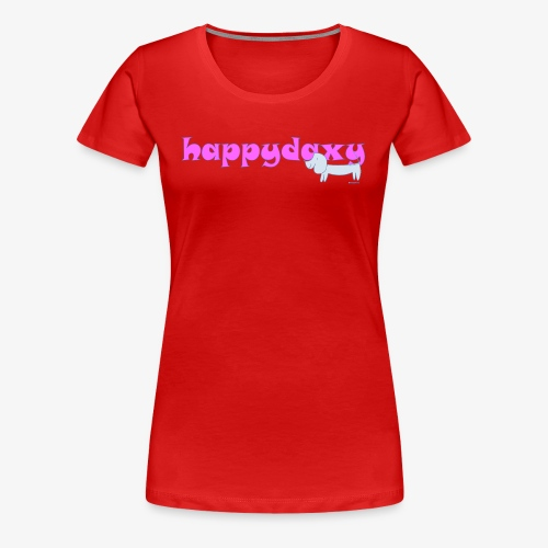 Happy Daxy Pink by Sue Anderson - Women's Premium T-Shirt