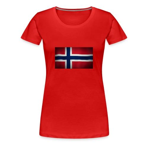 Norsk Flagg - Premium T-skjorte for kvinner