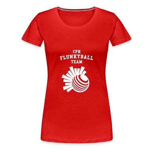 flunkyballHvid - Dame premium T-shirt