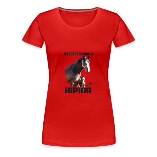 Kipinän selkäpainatus - Naisten premium t-paita