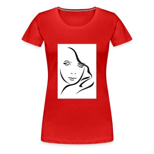 Frau Skizze2 - Frauen Premium T-Shirt